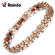 Rainso Gezonde Magnetische Armband Vrouwen Sieraden High Power Therapie Germanium Armbanden & Bangles Drop-Schip Hologram Polsband