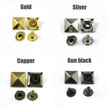 Mélange de couleurs 100 pièces/lot   Goujon à Rivet pyramide 10mm, accessoires maroquinerie, clou Collision, chaussure à clous en métal, livraison gratuite