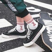 "[COSPLACOOL]""FALL IN LOVE"" Letter Harajuku Ankle Socks Japanese Creative Funny Socks Women Warm Street White Sokken Calcetines"