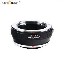 K & F CONCEPT MD-FX anneau adaptateur dobjectif pour Minolta MD monture objectif à Fujifilm Fuji X-Pro1 X Pro 1 appareil photo