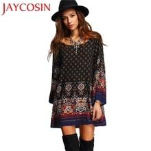 Jaycosin Nieuwe Mode Vrouwen Lange Mouw Vintage Party Beach Dress Casual Vestidos Dropshipping Freeship 15 P