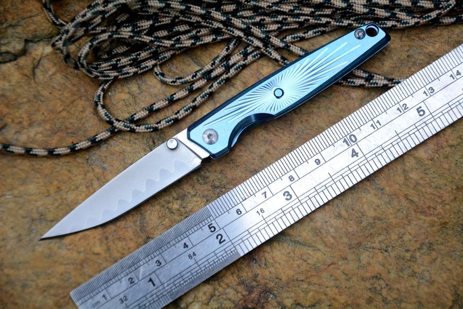"""CH marka bıçak Mini cep bıçak 2.2 """"şam bıçak titanyum kolu katlama hediye yumuşak bıçak ücretsiz kargo alüminyum kutusu paket"""