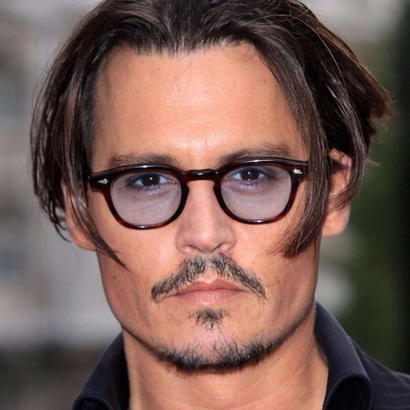 Fashion Johnny Depp Style Round Sunglasses Clear Tinted Lens Brand Design Party Show Sun Glasses Ocu