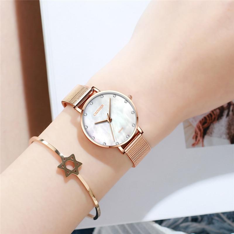 NEW CADISEN Women's Watches Quartz Ladies Watch Famous Luxury Brand Fashion Lady Wristwatch for Women Reloj Mujer Montre Femme enlarge