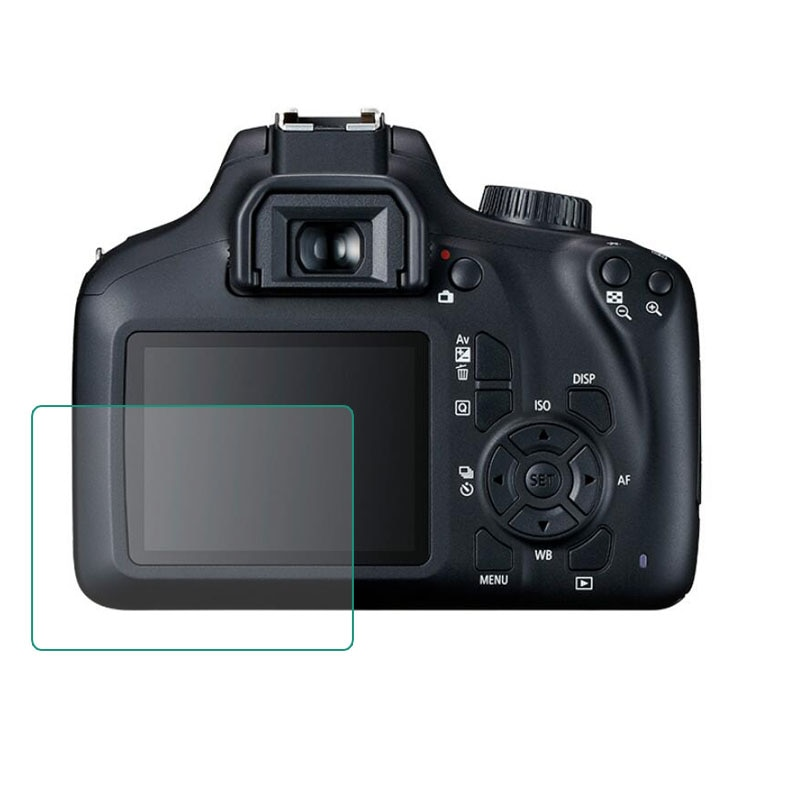 Protector de pantalla de vidrio templado para Canon EOS 3000D / 4000D Rebel T100 Cámara LCD Protector de pantalla