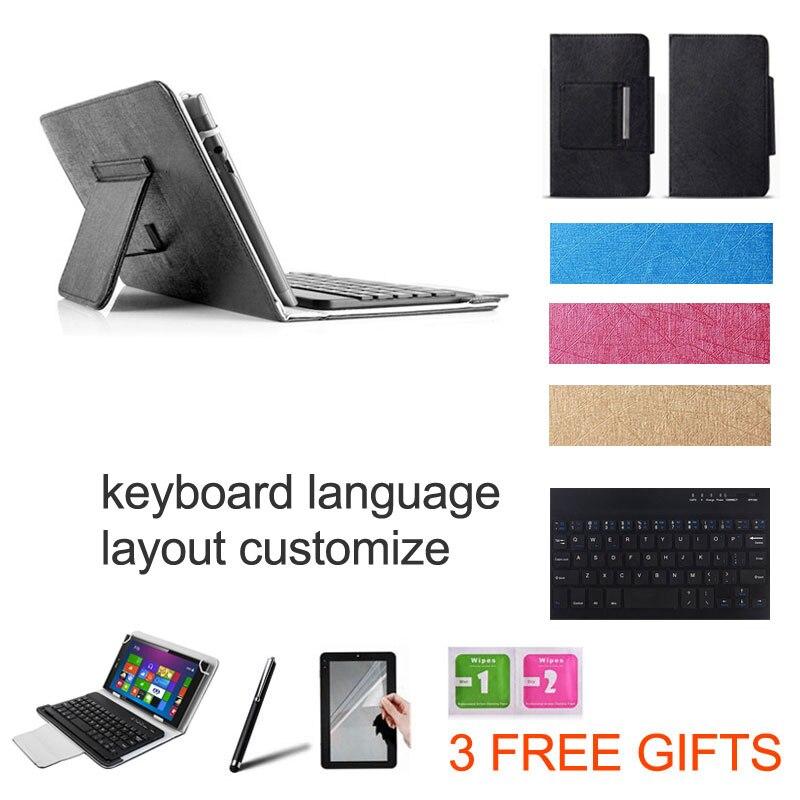 2 presentes 10.1 polegada universal caso de teclado sem fio bluetooth para xiao mi mi almofada 4 mais teclado layout idioma custo mi ze