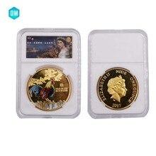 الصينية زودياك الدجاج السنة العملات التذكارية جمع عملة الديك العملات العام المقتنيات مع مربع