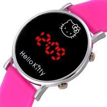 Children Watch Digital LED Silicone Band Kids Watch Boy Girl Wrist Watch Reloj Relogio Feminino Cartoon Clock School Girls Gift