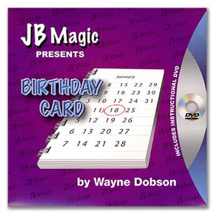 Tarjeta de cumpleaños de Wayne Dobson y JB, trucos de magia
