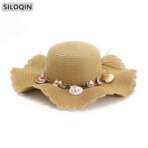 SILOQIN Elegant Lady's Straw Hat Oversized Visor Breathable Women's Sun Hat 2019 New Flower Decoration Beach Hats For Women