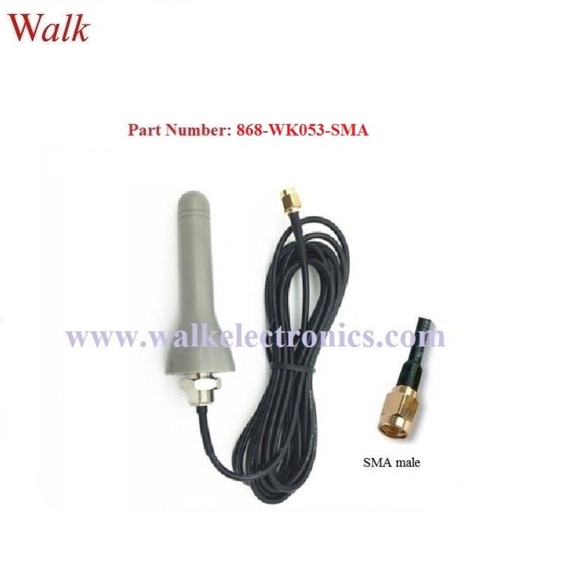 Uso ao ar livre impermeável tamanho pequeno parafuso de montagem em 868 MHz telhado monte de Antena RFID UHF antena de borracha