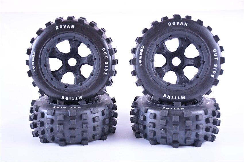 Fuerte agarre gran pisada fuera de la carretera montaje de neumáticos para KM ROVAV HPI Baja 5T 5SC Traxxas x-maxx LOSI 5IVE-T DBXL 195*80MM