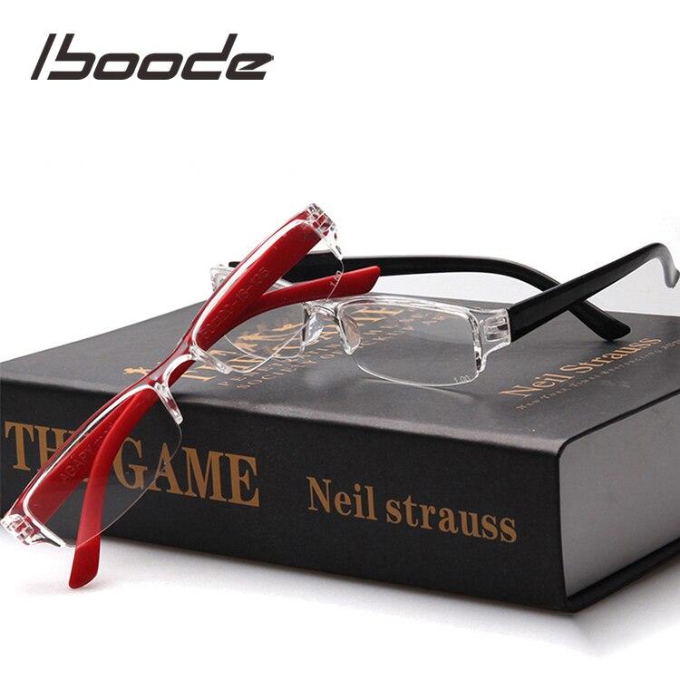 Iboode unisexe lunettes de lecture pour hommes âgés femmes léger presbytie lunettes Transparent carré cadre lecture lunettes hommes