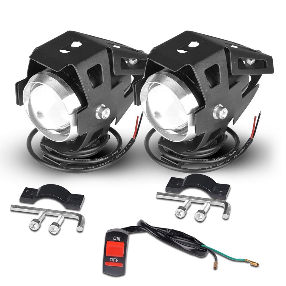 Faros delanteros para Moto rcycle U5 led, faro para moto DRL, lámpara auxiliar para Moto rbike, focos antiniebla universales para suzuki ltz 400 12V