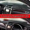 Tapis de bord en flanelle pour Toyota | camry xv50 2011-2016 accessoires de style automobile couvercle de tableau de bord tapis de bord 2012 2013 2014 2015