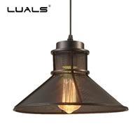 Loft Pendant Lights Retro Hanging Lamp Creative Iron Art Industrial Pendant Lighting For Restaurant Edison Bulb Light Fixture