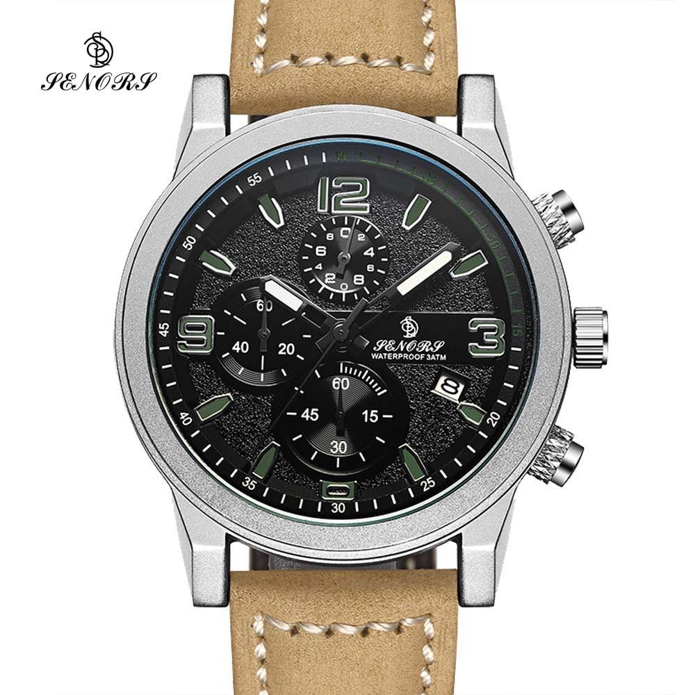 SEÑORES Cronógrafo Wacth Deportes Para Hombre Relojes de Pulsera Fecha Impermeable de Los Hombres de Ginebra de Cuarzo Reloj de Hora Militar Relogio masculino