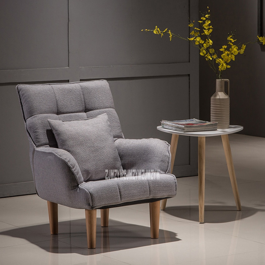 008YZH Modern Small Cotton-Flax Lazy Sofa Bedroom Balcony Mini-Sofa Simple Single Sofa Chair Living Room Study Relaxing Sofa