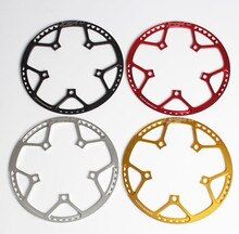 Folding BMX  Small Bike Bicycle BCD130 Round Plate Single Disc Gear 45 47 53 56 58T Chainwheel Crank