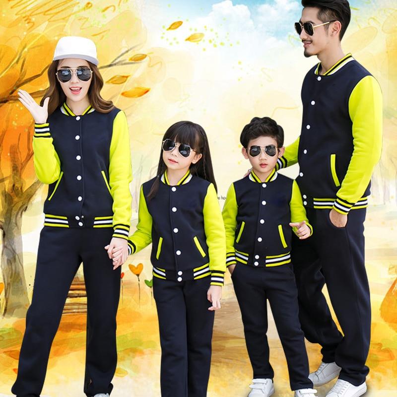 MADRE HIJO hija niños ropa familia conjunto chaquetas apariencia familiar abrigo uniformes escolares infantiles ropa de manga larga