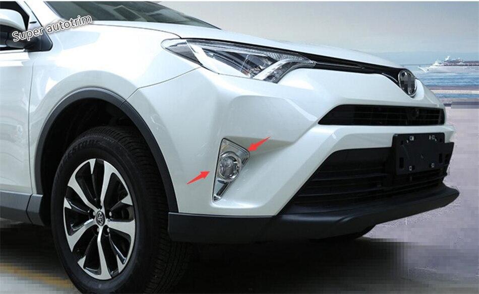 Lapetus para Toyota RAV4 RAV 4 2016 4 2017, 2018 ABS frente niebla embellecedor de cubierta de lámpara de Luz 2 unids/set