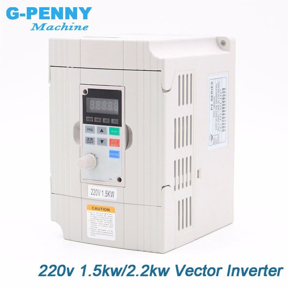 ¡Envío Gratis! 220v 1.5kw vector Inveter 2.2kw VFD inversor convertidor de frecuencia Variable controlador de velocidad del Motor