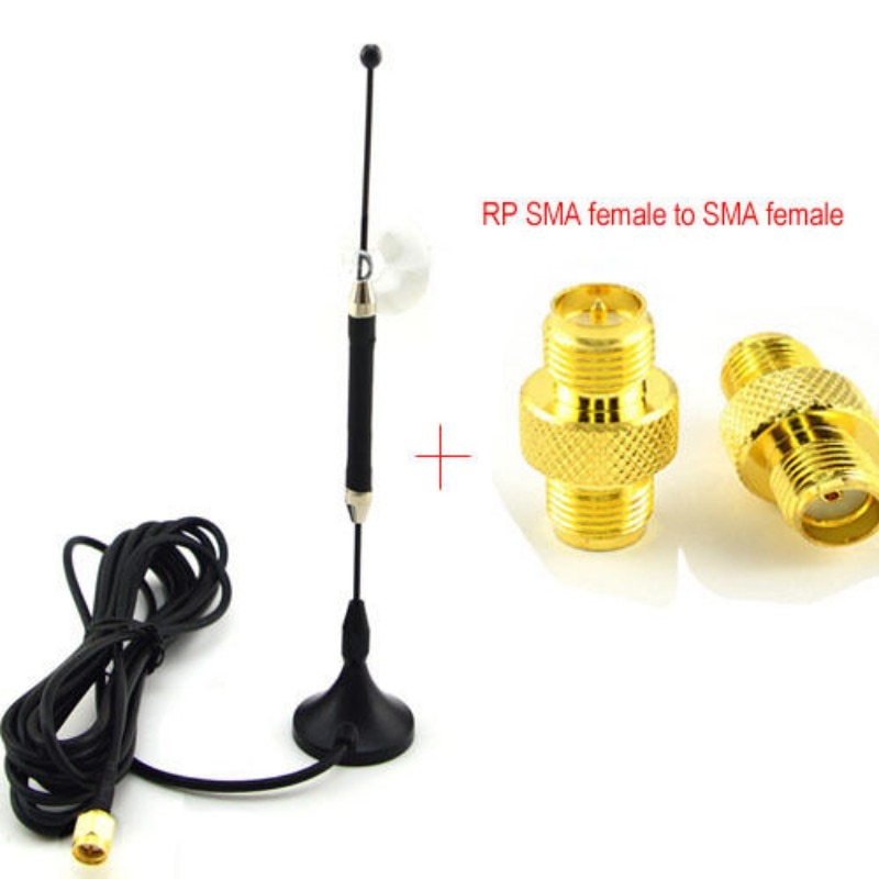 4G antena omnidireccional 10dbi LTE antena SMA magnética para módem 4G lte FDD/TDD Router + RP-SMA adaptador hembra a SMA hembra