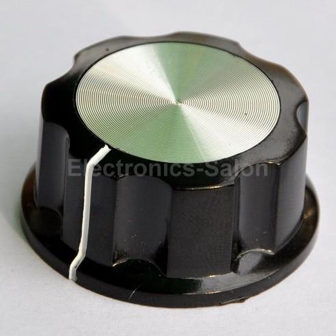 "( 4 pçs/lote ) Pot puxadores, 1.311 "" x 0.622 "" eixo 1/4 "", Mf-a04, Para HAM Radio / Audio"