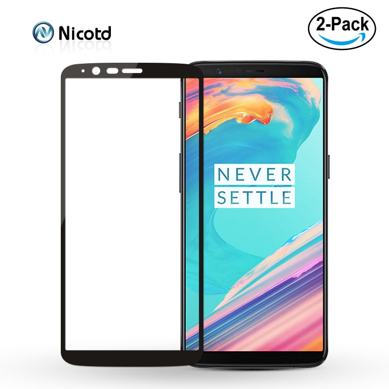 2 pack Full Cover 2.5D Tempered Glass For Oneplus 6 5T 5 T A6000 One Plus 6 Oneplus6 Oneplus5 1+6 Curved Screen Protector Film