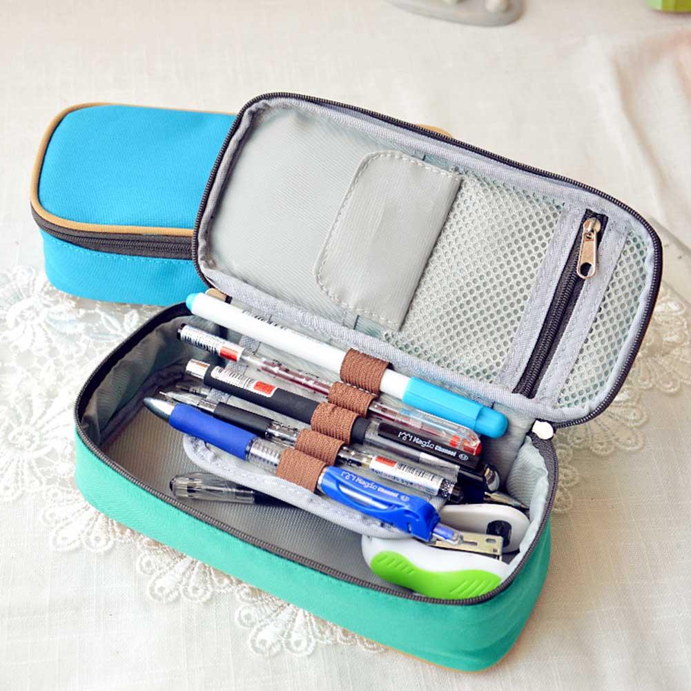 Gran oferta de papelería para estudiantes escolares lápiz bolsa de lápiz caja de organización Oficina abandonada partes estuche material escolar