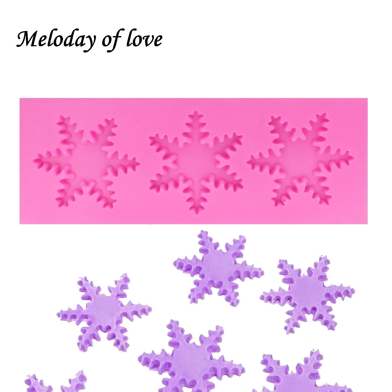 Navidad copo de nieve de silicona herramientas de moldes para pasteles Cupcake decoración pasta de goma fondant chocolate resina de arcilla polimérica molde T1382