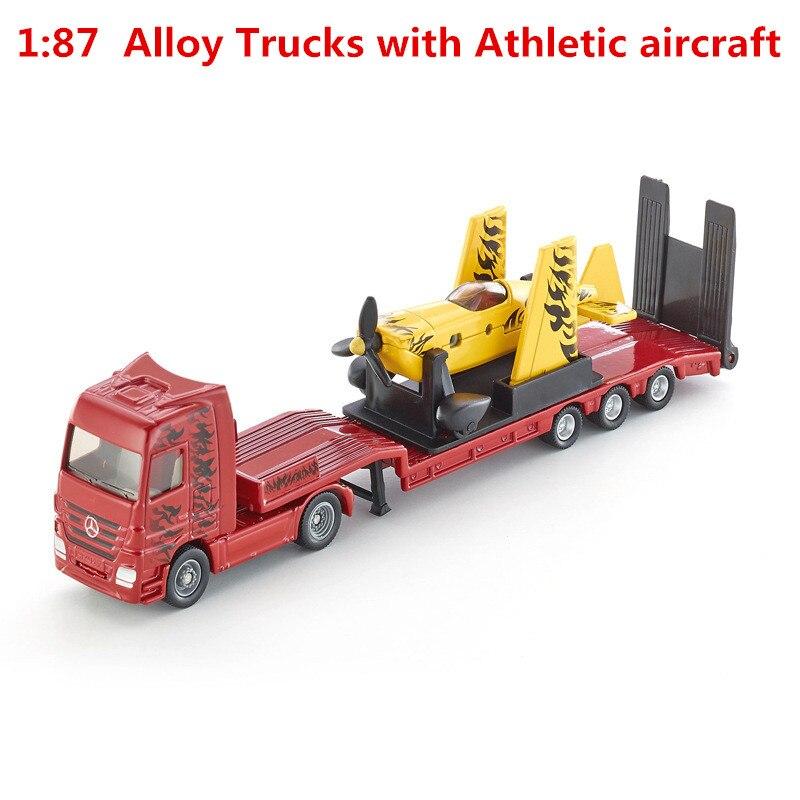 132 camiones de aleación con aviones atléticos, modelos de alta SIKU-U1866 simulación, fundidas metálicas, juguetes estáticos, vehículos de juguete, Envío Gratis
