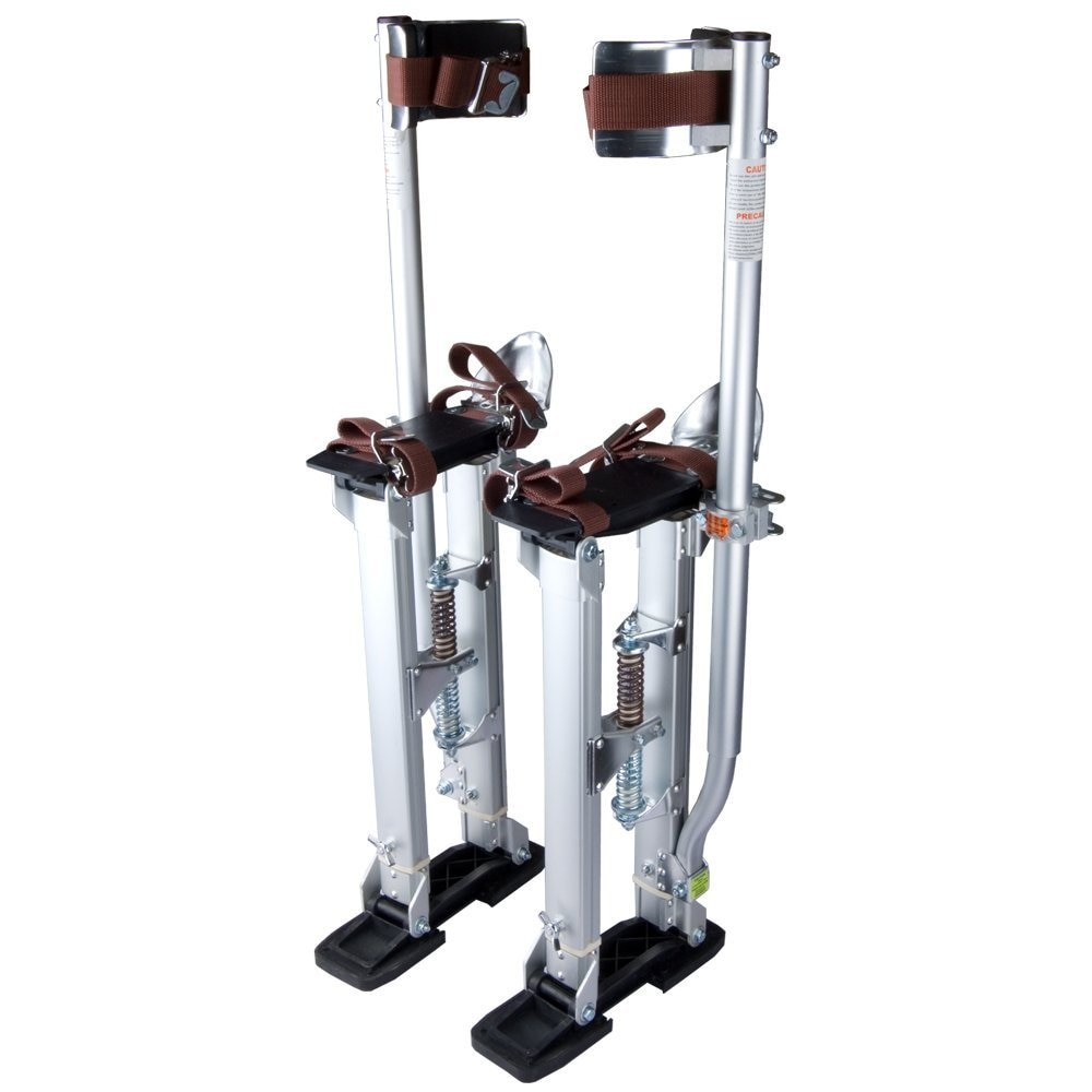Silver Professional Grade Adjustable Drywall Stilts Taping Paint Stilt Aluminum 24