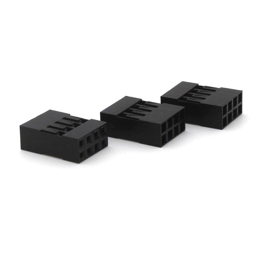20 unids/lote doble fila 2,54mm de plástico Dupont Jumper header Cable carcasa hembra Pin dupont head Connector