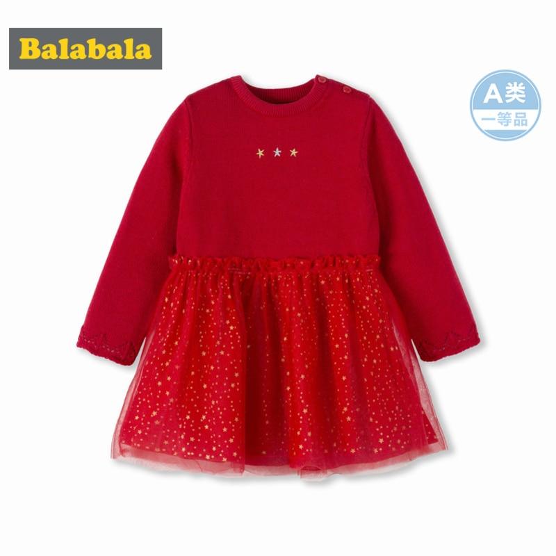 Balabala, vestido de tela Max para niña bebé, suéter de punto fino + tul con cierre a presión en el hombro, vestido de tul para bebé recién nacido