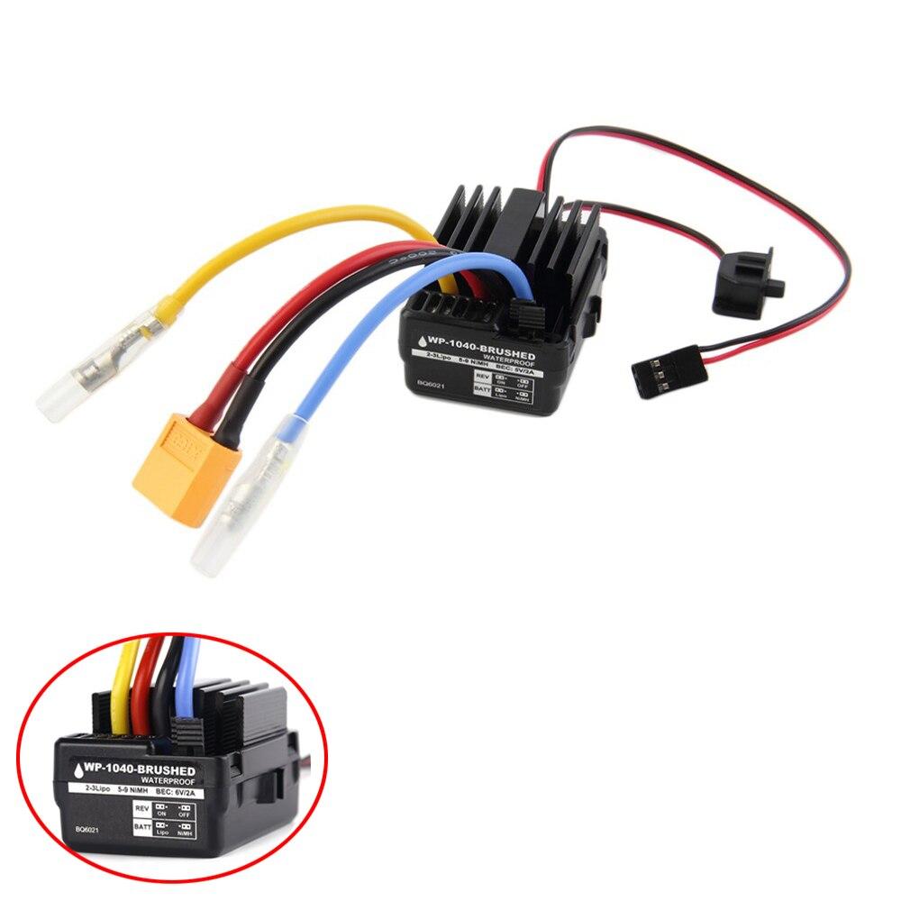 Controlador ESC cepillado WP 1040 60A BQ6021 a prueba de agua para Motor de coche RC Hobbywing Quicrun
