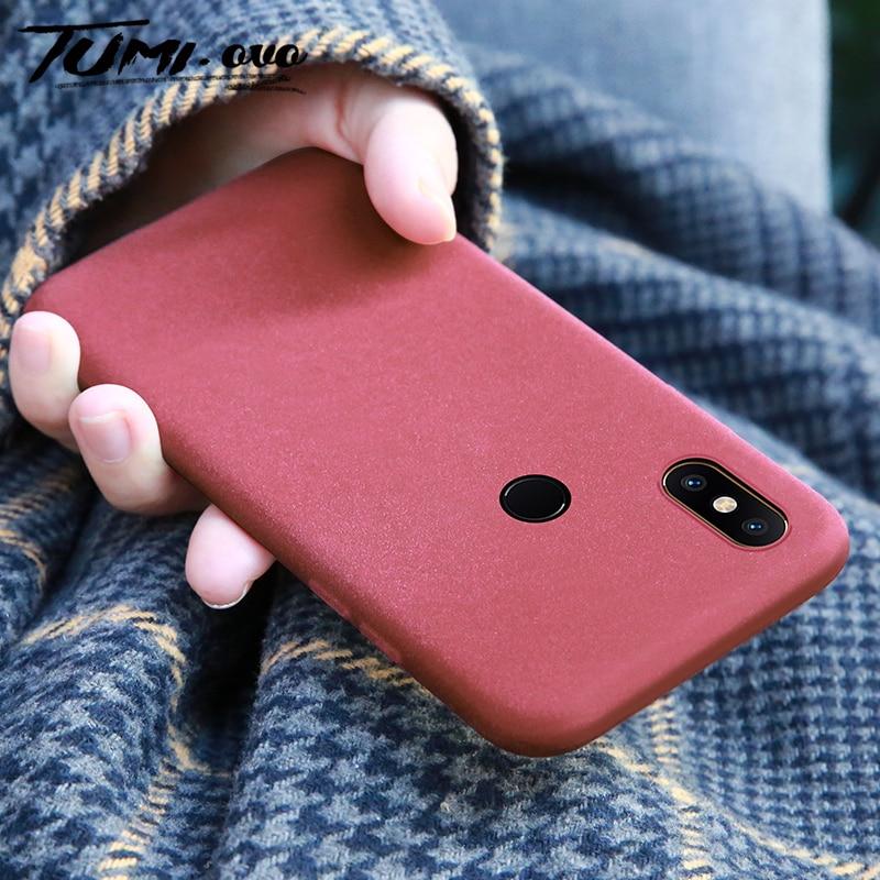 Coque de protection en Tpu souple, couleur unie mate, pour Xiaomi Mi 8 Lite 9 se 8 Explorer Play 5X 6X A1 A2 Note 2 3 Mix 2S Pocophone F1