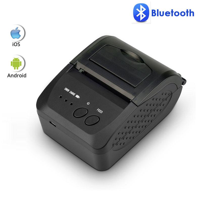 Impresora térmica de recibos Bluetooth NETUM NT-1809DD de 58mm para ventanas de Android IOS y puerto de recepción 5890T RS232, impresora portátil POS