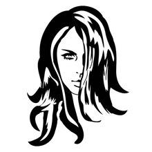 11.7cm*16.1cm Pretty Sultry Woman Fashion Stickers Fashion Personality Creative Decals Vinyl Decor