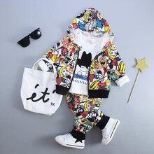 Ensemble de vêtements pour bébé 3 pièces   Ensemble dautomne en coton, pulls + pantalons + t-shirt, vêtements pour enfants de 2 ans, tenues pour nouveau-né