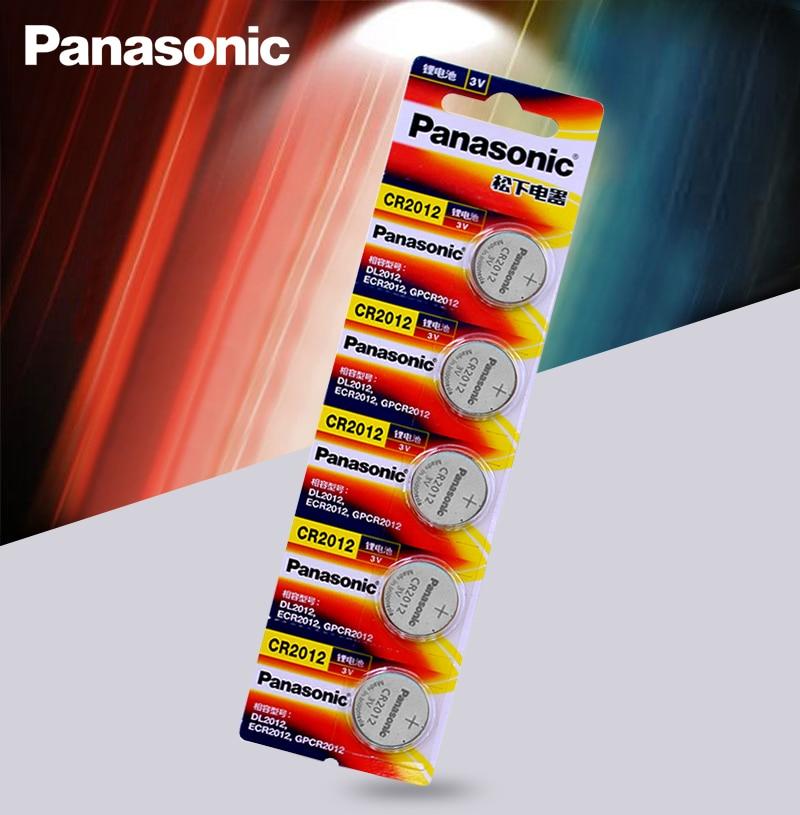 5 teil/los Original Marke neue batterie PANASONIC cr2012 3v taste cell-münze batterien für uhr computer cr 2012