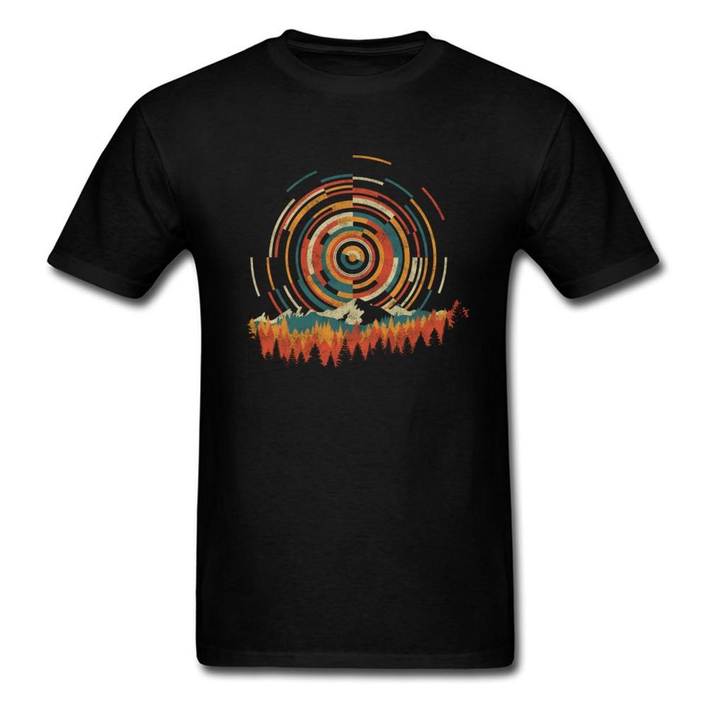 Camiseta de geometría de Amanecer para hombre, camiseta Vintage, camisetas de diseño de estilo joven, camisetas de algodón de los años 80 para amantes de la música, camisetas de Hip Hop