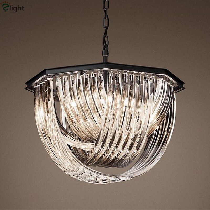 Lámpara colgante de Metal negro E14 American RH, lámpara colgante de cadena ajustable Retro Para el desván, lámparas luminosas para sala de estar
