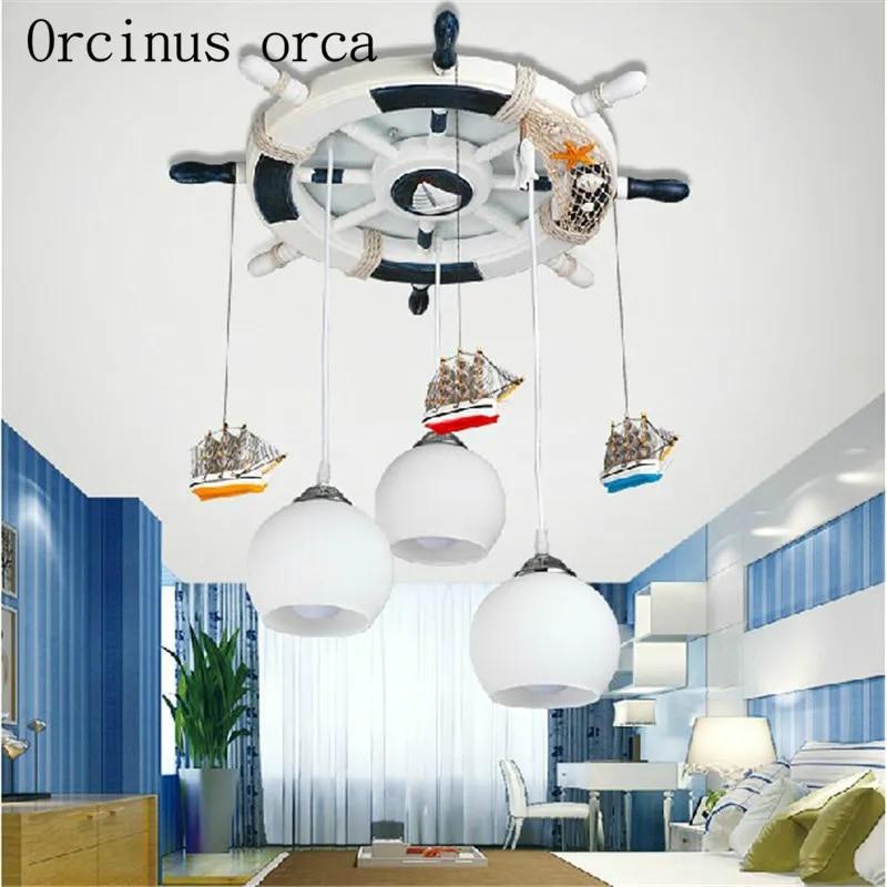 Plafonnier LED au design de dessin animé, style méditerranéen, éclairage d'intérieur, luminaire décoratif de plafond, idéal pour une chambre d'enfant, livraison gratuite
