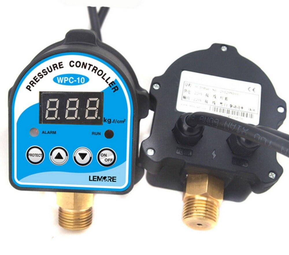 جديد 1 قطعة الرقمية ضغط التحكم التبديل WPC-10 الرقمية عرض الالكترونية ، تحكم الضغط لمضخة المياه مع محول