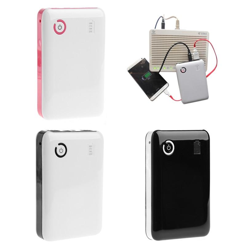 Portátil ajustable 5V 9V 12V 18650 funda cargadora de batería doble puerto USB banco de energía móvil caja para teléfono móvil tableta