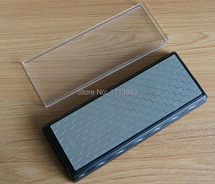 200*70mm Double-Sided 400 & 1000 Grit Diamante Bancada Pedra De Amolar Faca Afiador De Pedra De Afiar com Plástico Base e Tampa