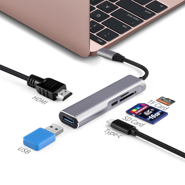 USB Typ C Typ-C USB-C HUB Zu HDMI 4K USB 3.0 TF SD Kartenleser Thunderbolt 3 Dex modus Adapter Für MacBook Air Pro Samsung S8