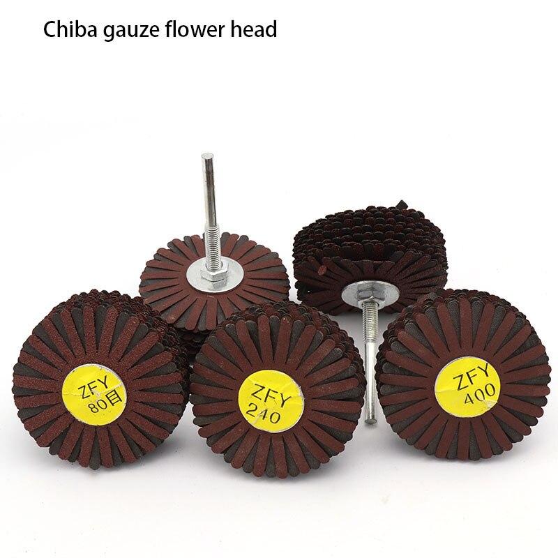 1 pçs lidar com grelha lixa escultura em madeira móveis de metal de madeira polido gaze flor cabeça mão ferramenta acessórios
