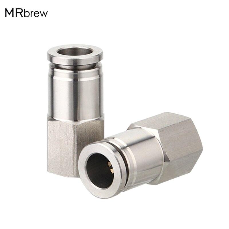 Accesorios de empuje MFL conectar con 5/16 OD manguera tubo velocidad conectar ajuste para Barril de Cornelio Bloqueo de bola desconectar corny